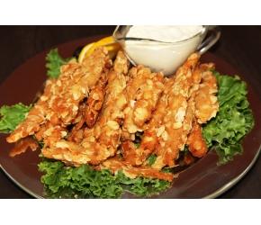 Вива Кетъринг - Панирани пилешки филенца с филиран бадем